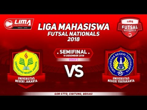 SEMIFINAL UNJ VS UNY WOMEN'S LIMA FUTSAL NATIONALS 2018