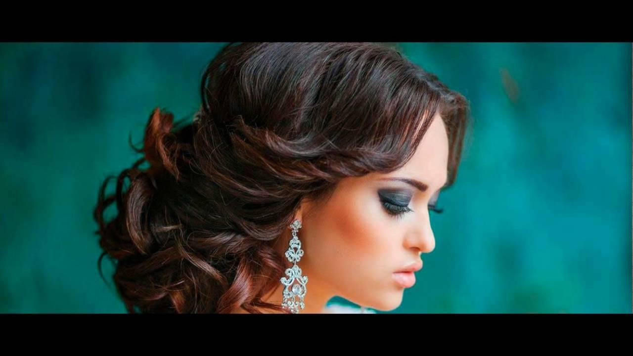 Красивые свадебные прически на длинные волосы - YouTube