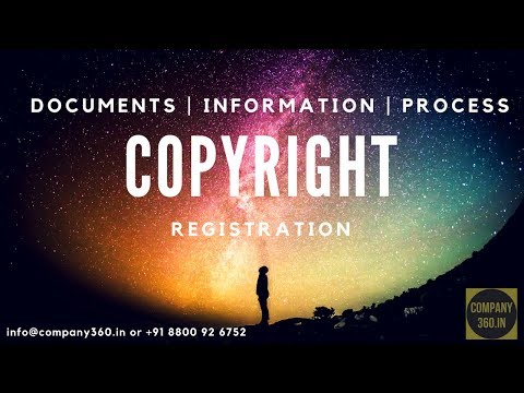 Copyright Registration In India (Documents And Information)   Company360.in