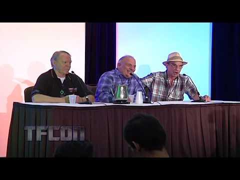 Michael McConnohie sings 'Micro Man' to John Moschitta & Richard Newman on the Reboot reboot