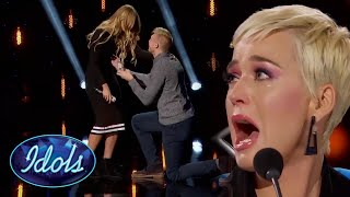 KATY PERRY BREAKS DOWN AFTER ON STAGE PROPOSAL   Idols Global