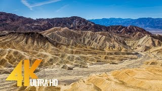 4K Long Relax Video with Music - Death Valley National Park - 6 Hours Ultra HD