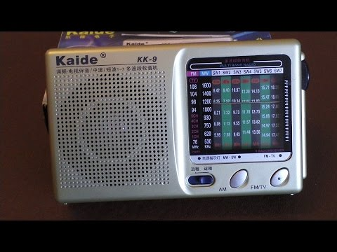 Kaide KK 9 Shortwave FM MW 9 band radio review