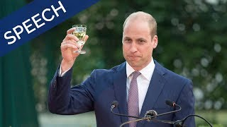 The Duke of Cambridge's speech at The Queen's Birthday Party in Jordan