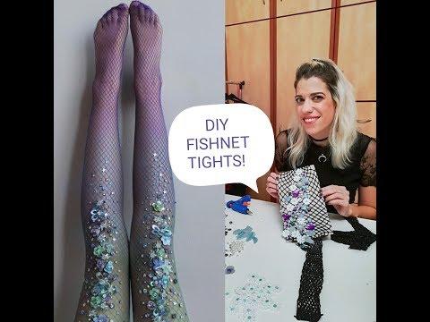 Diy Fishnet Tights:Φτιάξτε τo καλσόν - κόσμημα