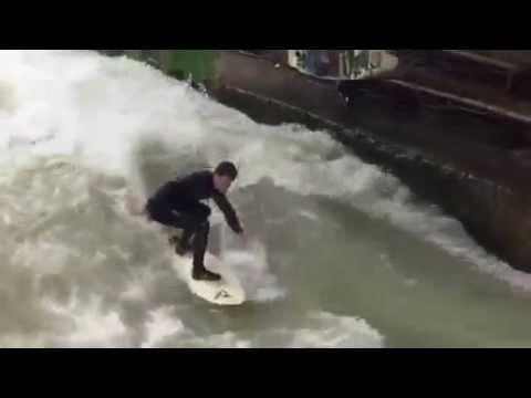 Surfing in Munich City