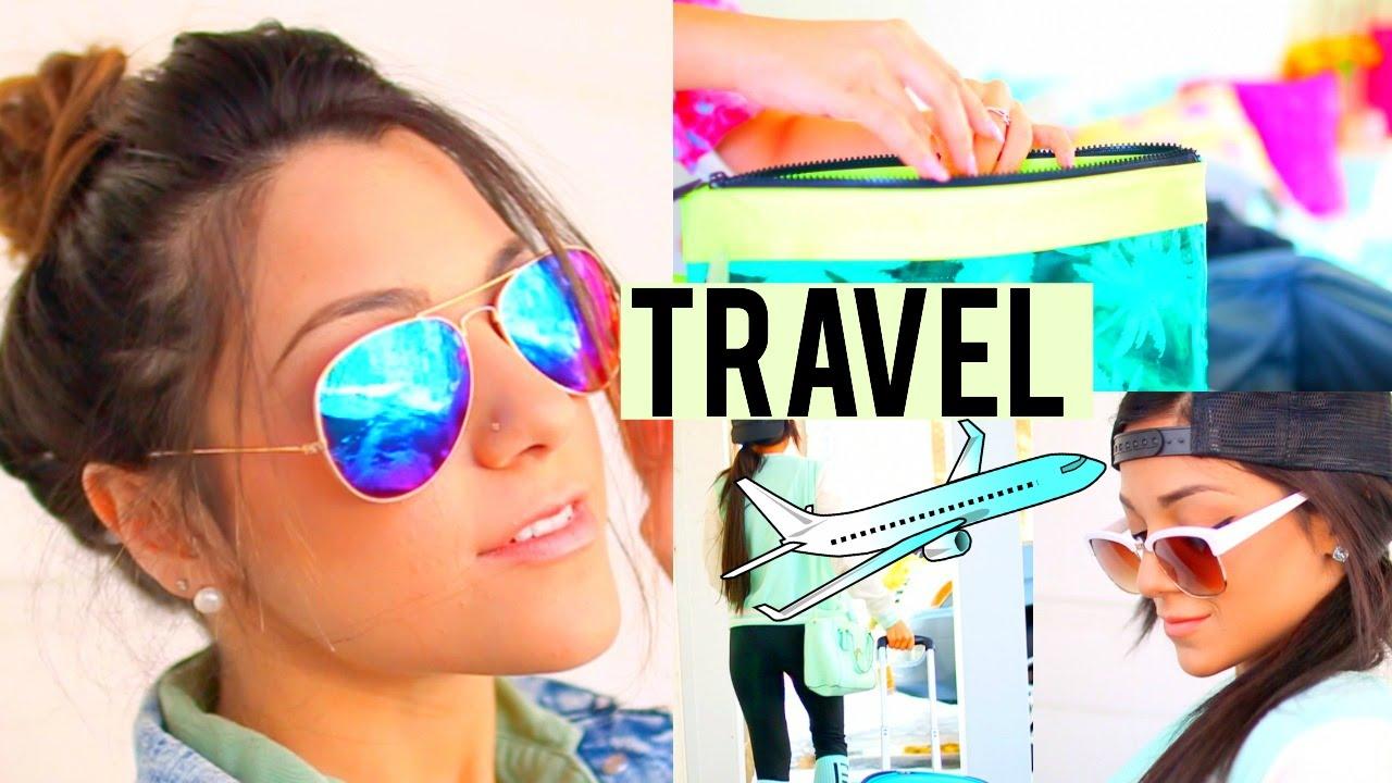 travel hair make- outfits