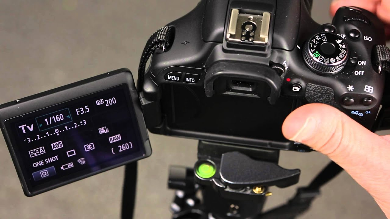 Canon 600D Changing the auto focus point selection
