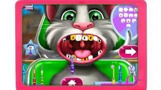 Играем в доктора. Лечим зубы Коту Тому. Мультфильм для детей. Мультик игра.