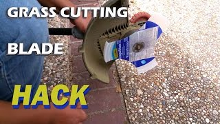 How to Make Weed eater / trimmer / wacker blade - DIY hack