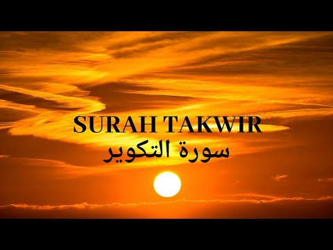 Quran Recitation - Surah Takwir - Qari Ziyaad - with Arabic - سورة التكوير - قارى زياد