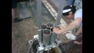 Repeat youtube video Homemade briquette press / racna presa za briketi