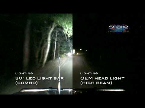 Rigid Industries 30 Led Light Bar Oem Head Light Side By Side Comparison