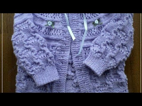 6b987e7cd सुन्दर Baby sweater knitting design (English subtitles ...