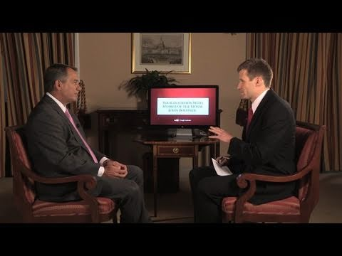Your Interview with Speaker Boehner