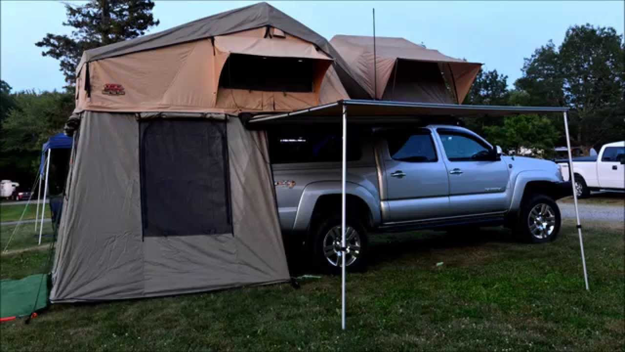 & Front runner roof top tent and Tuff stuff - YouTube