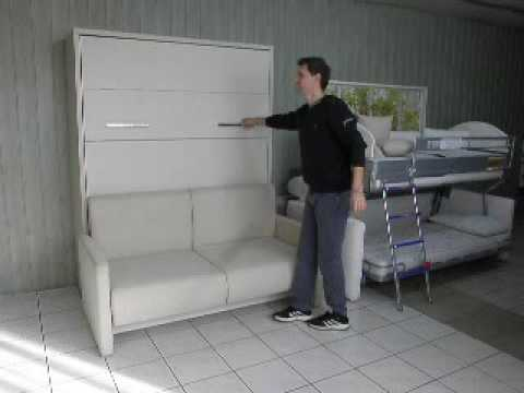 schrankbett wandbett mit sofa wall bed wandbett mit sofa youtube. Black Bedroom Furniture Sets. Home Design Ideas