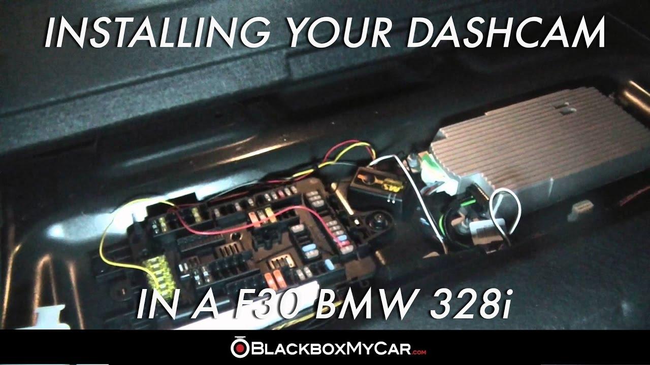 how to install dashcam on f30 bmw 328i blackboxmycar com [ 1280 x 720 Pixel ]