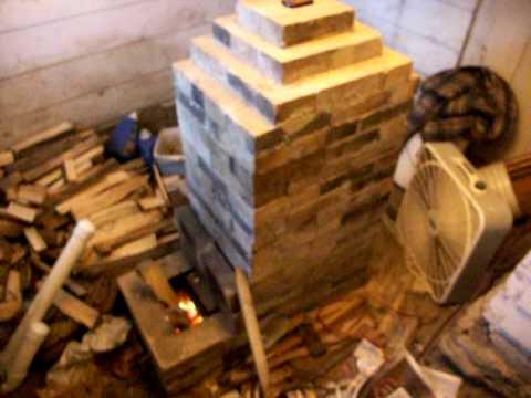 Rocket Mass Heater Stove Wood Refractory Masonry Hermon