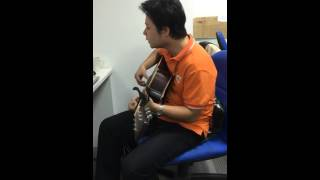 Thế giới ảo tình yêu thật guitar cover honghai8x