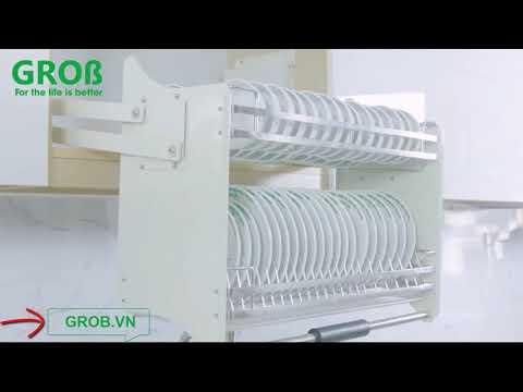(Grob.vn) Giá bát nâng hạ Grob Inox Sus 304 chính hãng