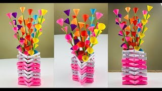 Flower Vase Decoration Ideas | Paper Flowers | Paper Flower Making | Paper Craft