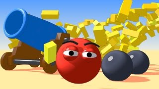 Vids For Kids In 3d (hd) - Learn Colors With Cannon Balls For Children  - Aapv