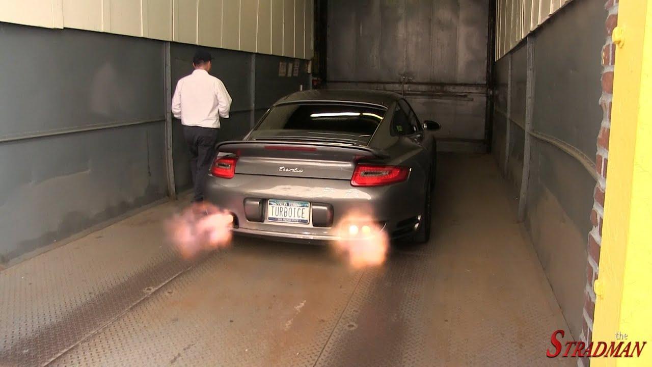 Shotgun popping revving Porsche 911 Turbo with Anti Lag System spitting flames!! - YouTube