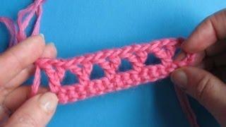 Вязание крючком - Урок 52 V-образный столбик