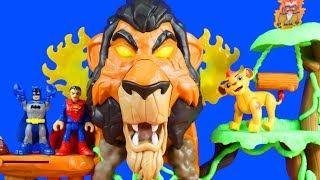 Imaginext Justice League And Batman Make A Crash Landing At Lion Guard Rise Of Scar Playset