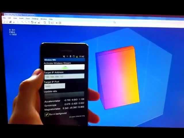 Wireless IMU Android App + Quaternion Kalman Filter in MATLAB