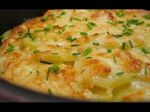 Вкусная картошка с фаршем в духовке.
