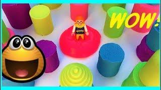 Learn Colors Kinetic Sand Rainbow Castle Bars Surprise For Kids - Color For Children