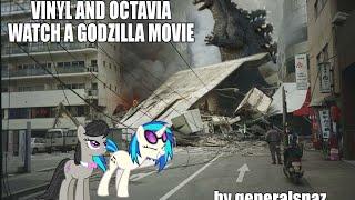 Vinyl and Octavia Watch a Godzilla Movie [MLP Fanfic Reading] (Comedy, Slice of Life)