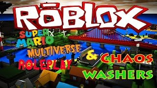 HELP! GET ME OUT OF THE WASHING MACHINE!!! A DAY IN THE LIFE AS MARIO! ROBLOX