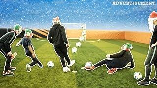 CHRISTMAS FOOTBALL CHALLENGES W/ TEKKERZ KID, BORISBONE 17 & ANDREW HENDERSON