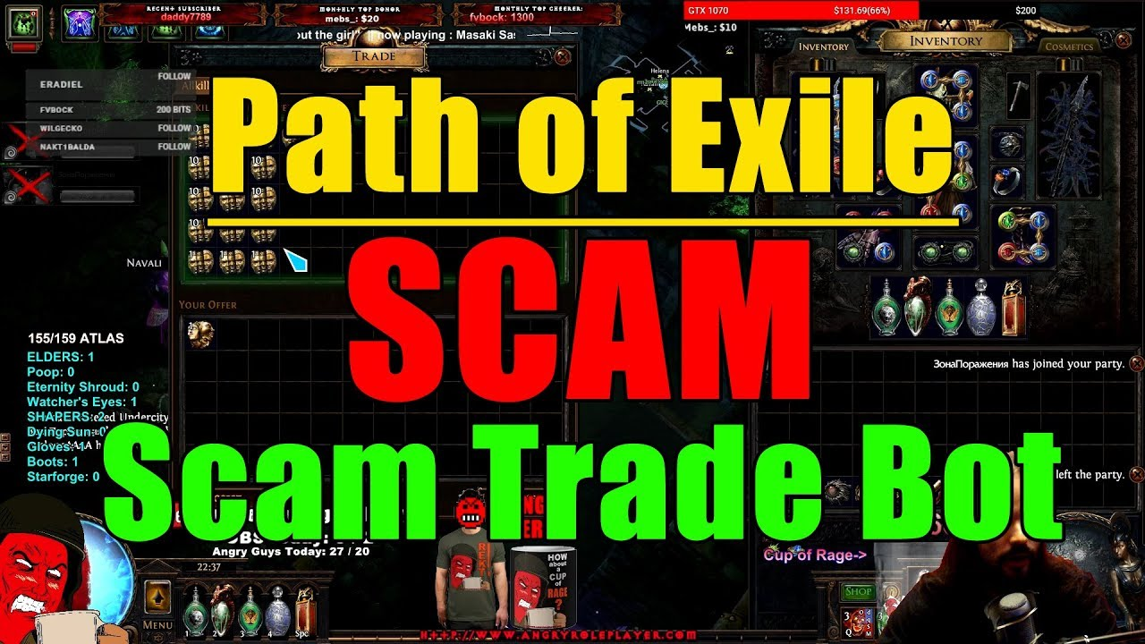 Path of Exile Scam Types: Scam Trade Bot (SCAMBOT lol!)