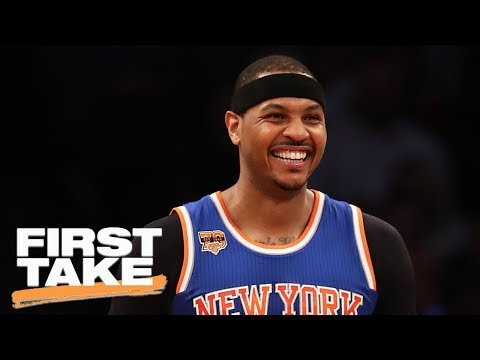 Carmelo Anthony More Likely To Stay On Knicks With Phil Jackson Gone   First Take   June 28, 2017