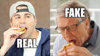 Feeding Bill Gates A Fake Burger  To Save The World