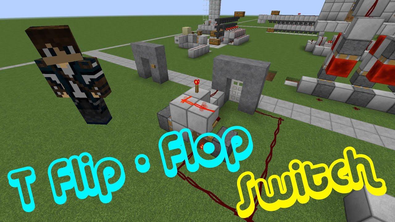 Minecraft - T Flip Flop Switch (T Switch) - Redstone Schaltung Guide ...