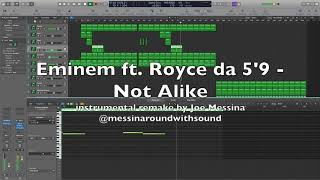 Eminem ft. Royce da 59 - Not Alike (instrumental remake on Logic Pro X)
