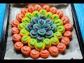 How To Make Rainbow Flower Bread
