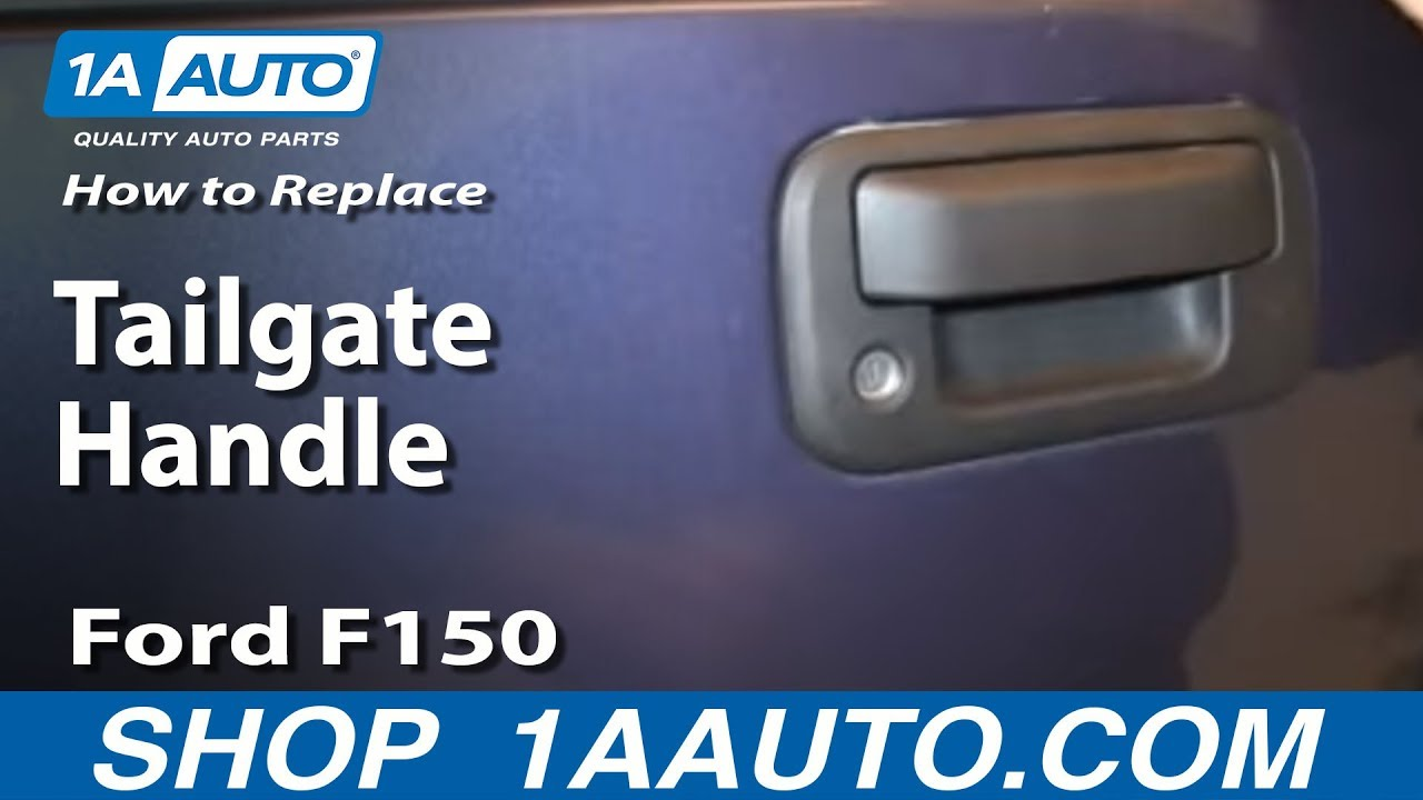 how to install replace fix broken tailgate handle 2004 13 ford f150 rh youtube com ford tailgate parts ford tailgate parts diagram