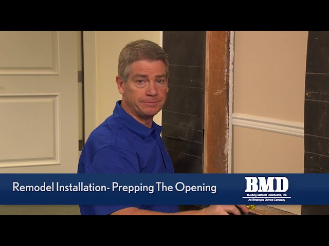 BMD Training Video Part 2  - Remodel Window Installation Video - Prepping the opening