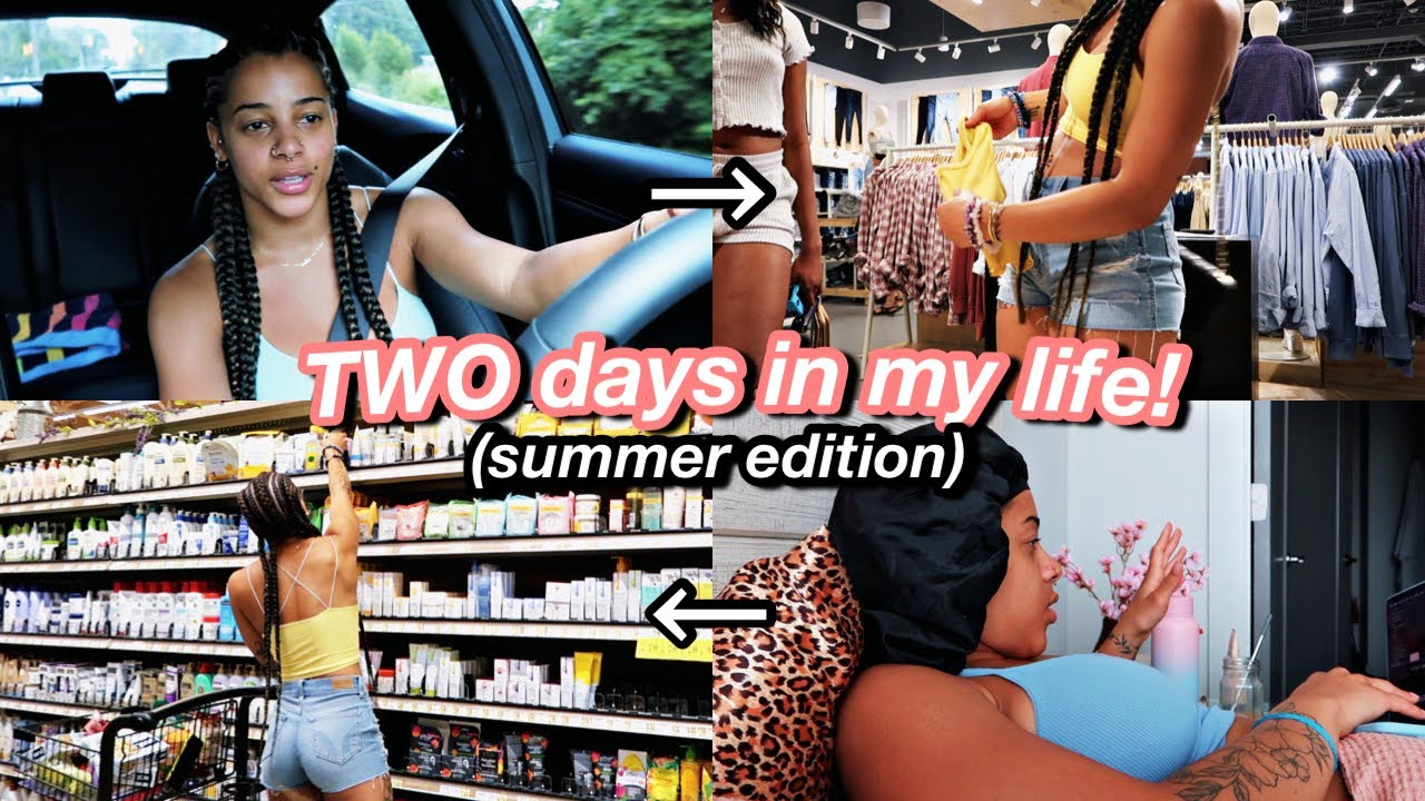 Vlog: TWO Days In My Life! mall, grocery shopping, appts, drive w/ me & more!   Azlia Willams
