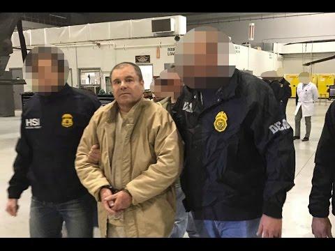 momento en el que 'El Chapo' Guzmán llega a Estados Unidos al Long Island MacArthur Airport.