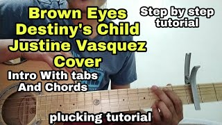 Brown eyes - Intro Tabs + Chords Step by step Guitar tutorial Justine vasquez Tagalog Acoustic lesso
