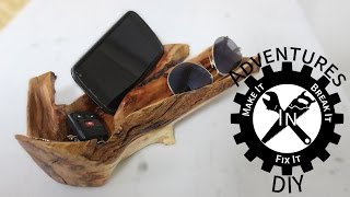 Carved Wooden Valet Tray For Your Cell, Sunglasses and Keys