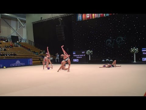 National team of Estonia (EST) ♡ Miss Valentine 2018 | FIG SENIOR GROUP | R2