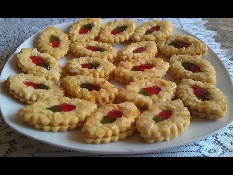 صابلي بريستيج  برقائق اللوز سهل ولذيذ | حلويات العيد 2016 sablés prestige
